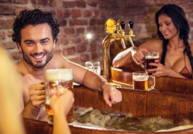 I Praha har det nå åpnet et eget spa der du bader i øl.