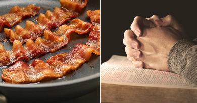 Dette kirkesamfunnet tilber bacon i stedet for Gud. Kjenner du noen som bør bli medlem?